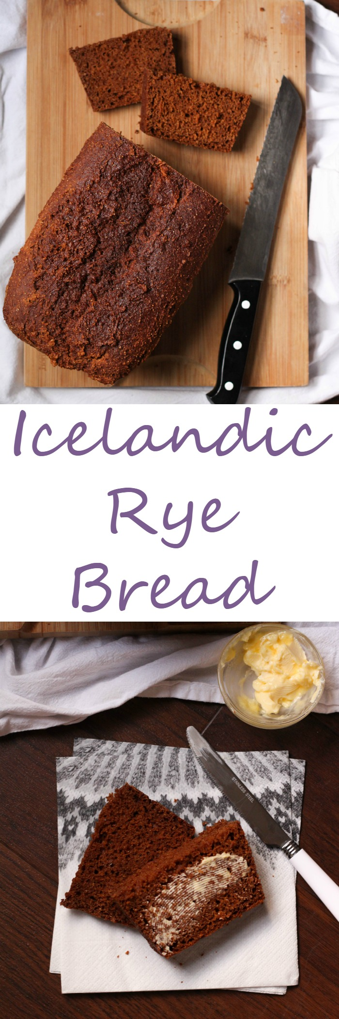 Icelandic Rye Bread is sweet, hearty, and delicious!