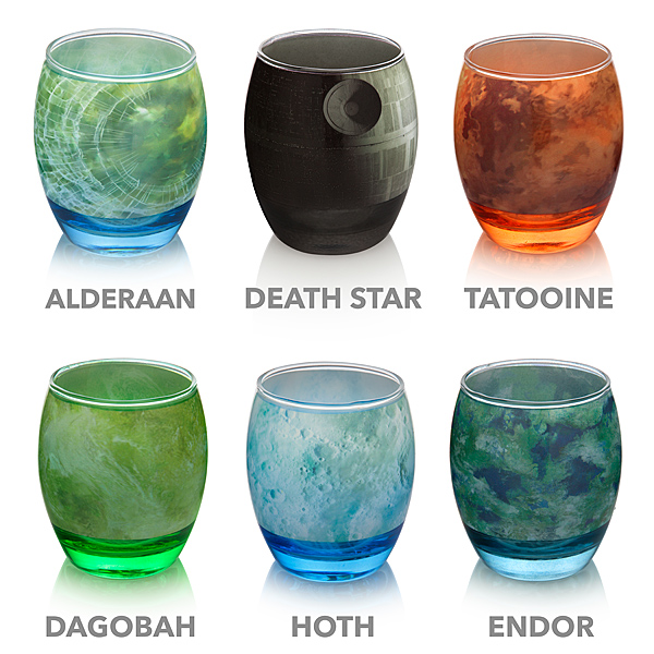 Star Wars Planetary Glass Set