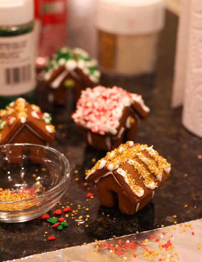 Mini gingerbread house decoarting