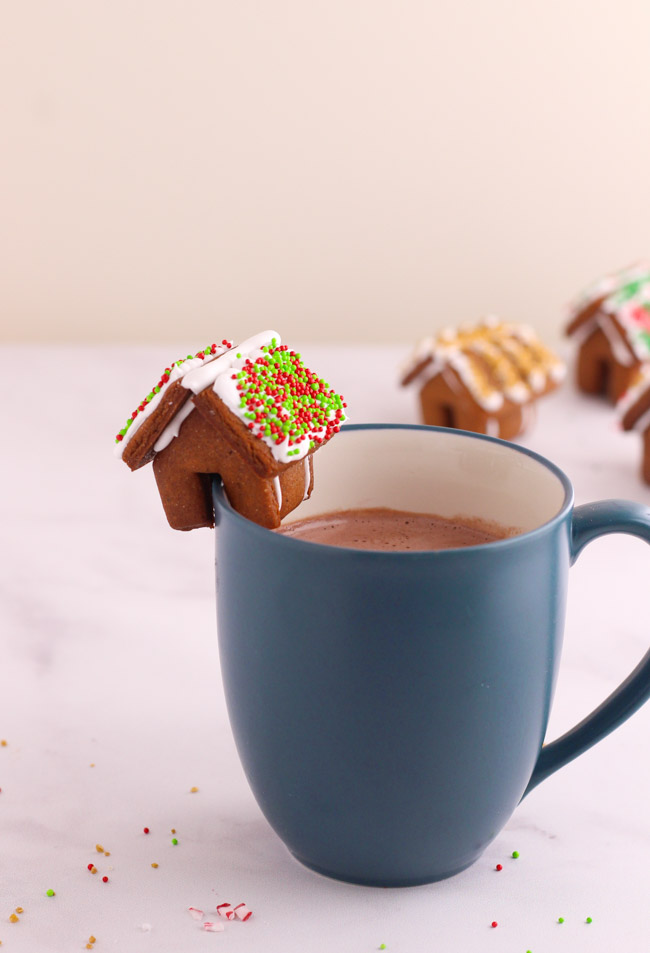 Mini Gingerbread House on a Mug