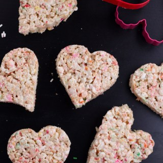 Heart shaped rice crispy treats
