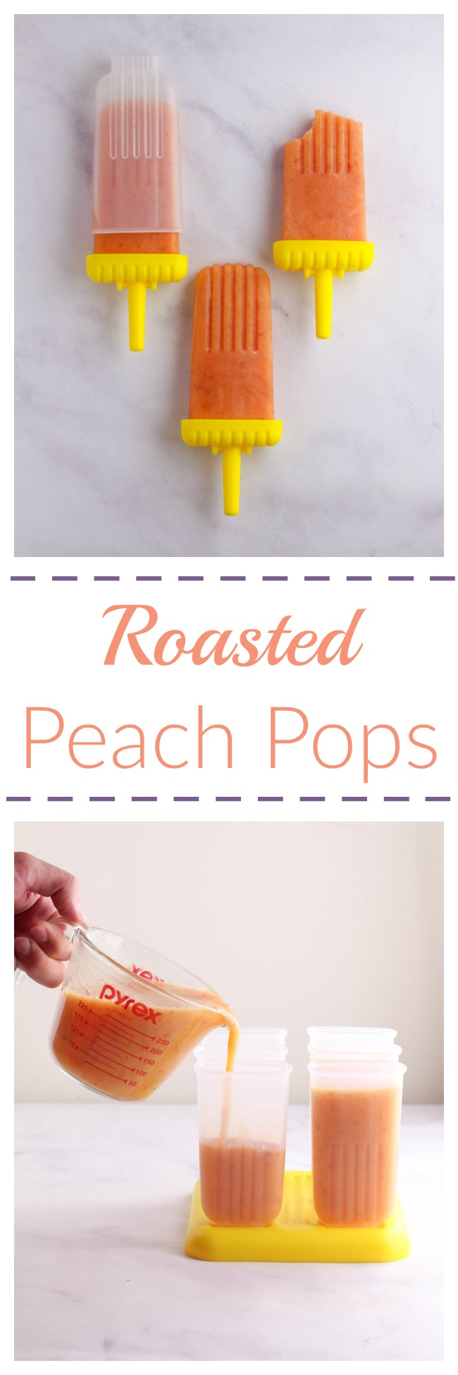 This recipe for roasted peach pops is simple, refreshing, and like a peach pie in frozen form.