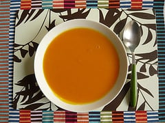 pumpkin soup white wine rosemary