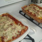 two lasagna casseroles for the freezer.
