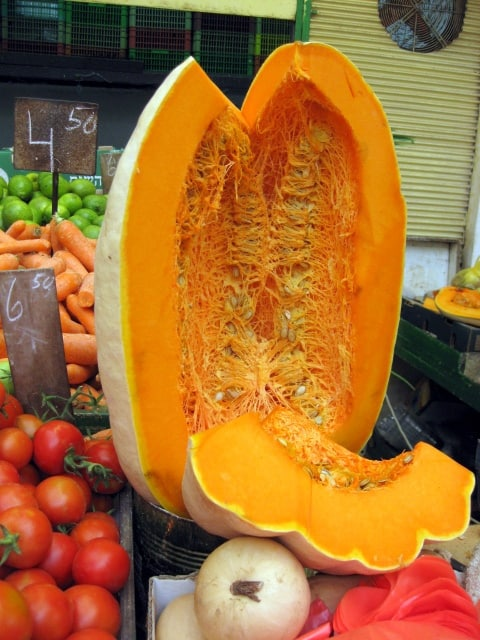 huge winter squash in market