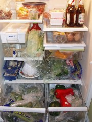What to do when your refrigerator is too full.