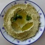 Homemade Chumus with Coriander and Parsley