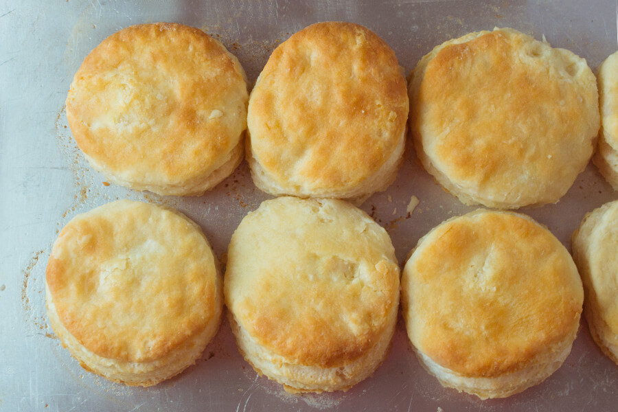 These buttermilk biscuits are flaky on the outside and light and fluffy on the inside- which equals perfection in my book. My grandma's flaky buttermilk biscuits makes the perfect side to any meal.