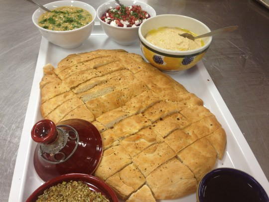 Focaccia and dips