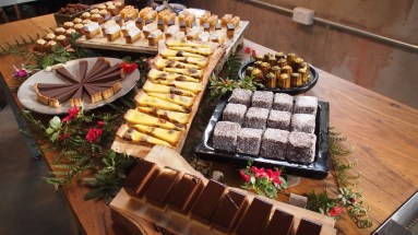 Part of the afternoon tea display