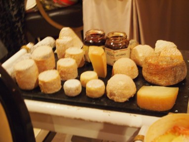 One of the three cheese tables