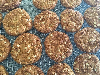 Anzacs hot from the oven