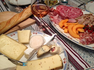 Karen's charcuterie platters greeted me on my arrival