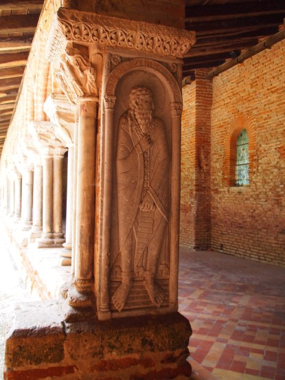 St James in the cloister of the Moissac cathedral, St Pierre