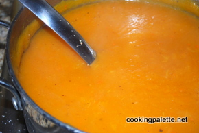 carrot ginger soup with curry (3)