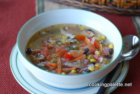 black bean and corn salsa rice chicken soup (8)