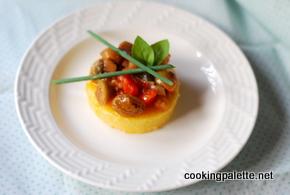 polenta cake with caponata (5)