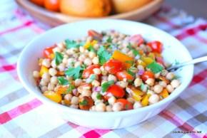 garbanzo pepper tomato salad (13)