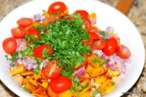 garbanzo pepper tomato salad (6)