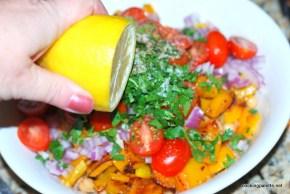 garbanzo pepper tomato salad (9)