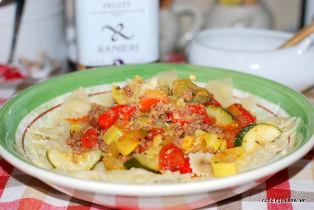 garden veg meat sauce farfalle (18)