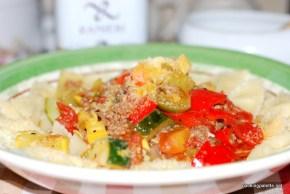 garden veg meat sauce farfalle (22)