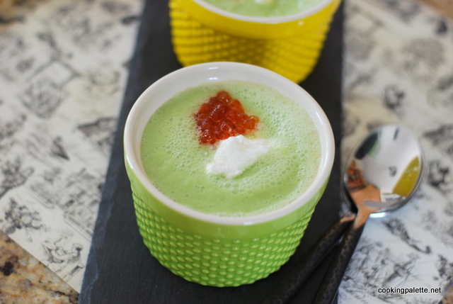 green soup mousse red caviar (12)