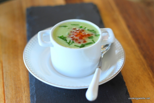 green soup mousse red caviar (25)