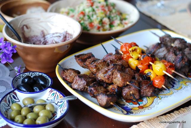 harissa marinated lamb kebabs (18)