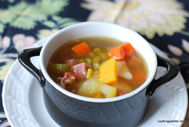 pea soup with ham and pumpkin (10)