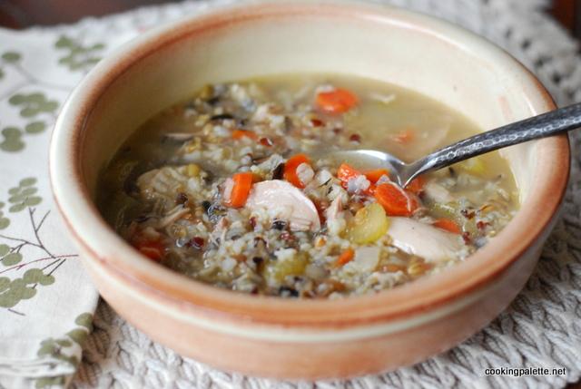 grainy turkey chicken soup (14)