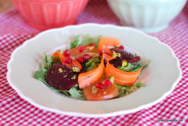 beet carpaccio carrot ribbons salad (12)