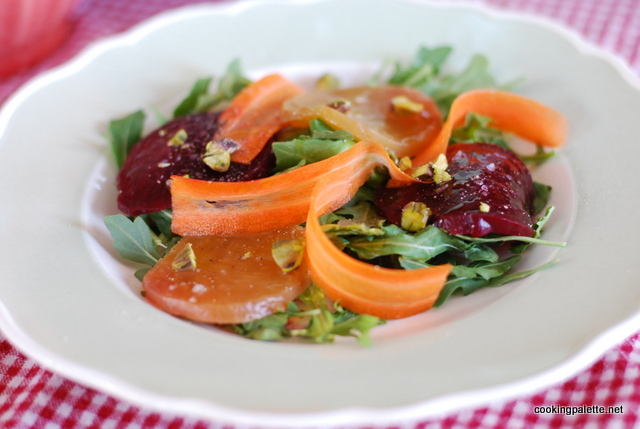 beet carpaccio carrot ribbons salad (3)
