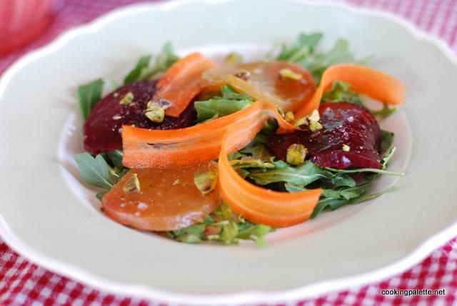 beet carpaccio carrot ribbons salad (3)
