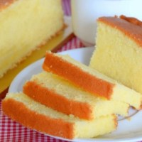 Soft Moist Butter Cake Recipe
