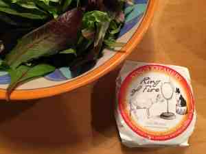 "Cheese used in the quince salad, ""Ring of Fire,"" a pasteurized whole goat's milk cheese from King's Creamery in Lancaster, PA."