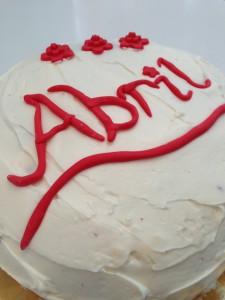 Decoración tarta red velvet