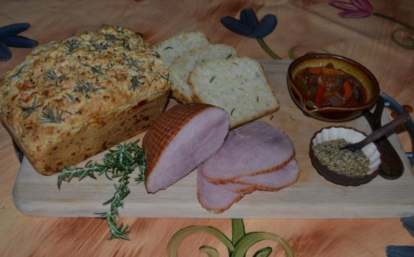 Mozzarella and rosemary beer bread