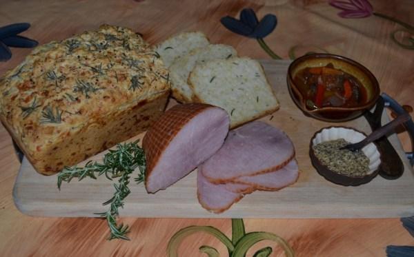Mozzarella and rosemary beer bread