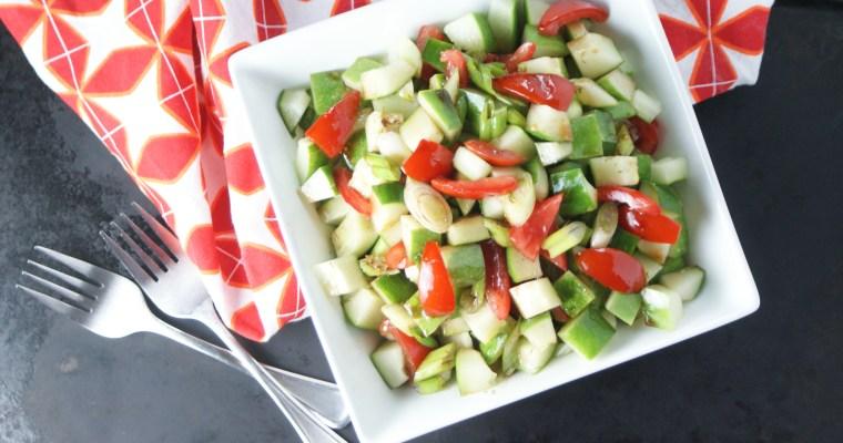 Summer Cucumber Salad with Honey Balsamic Vinaigrette