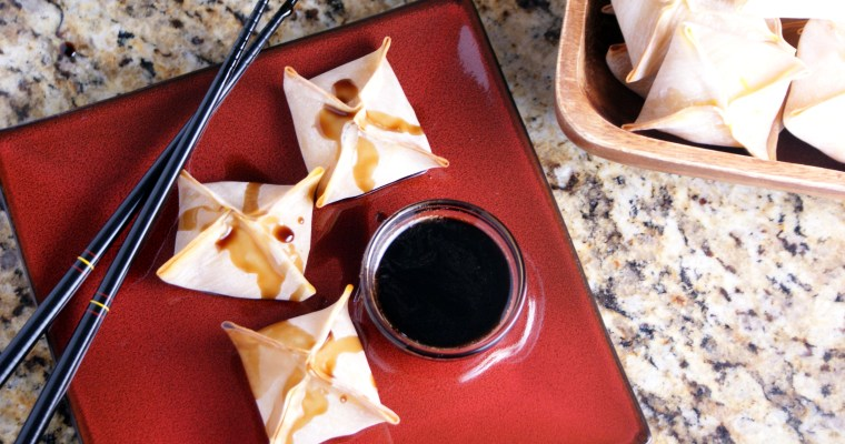Baked Pumpkin Apple Wontons