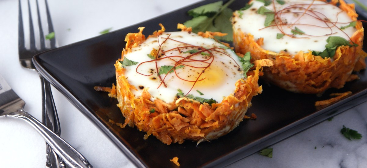 Baked Sweet Potato Egg Nests