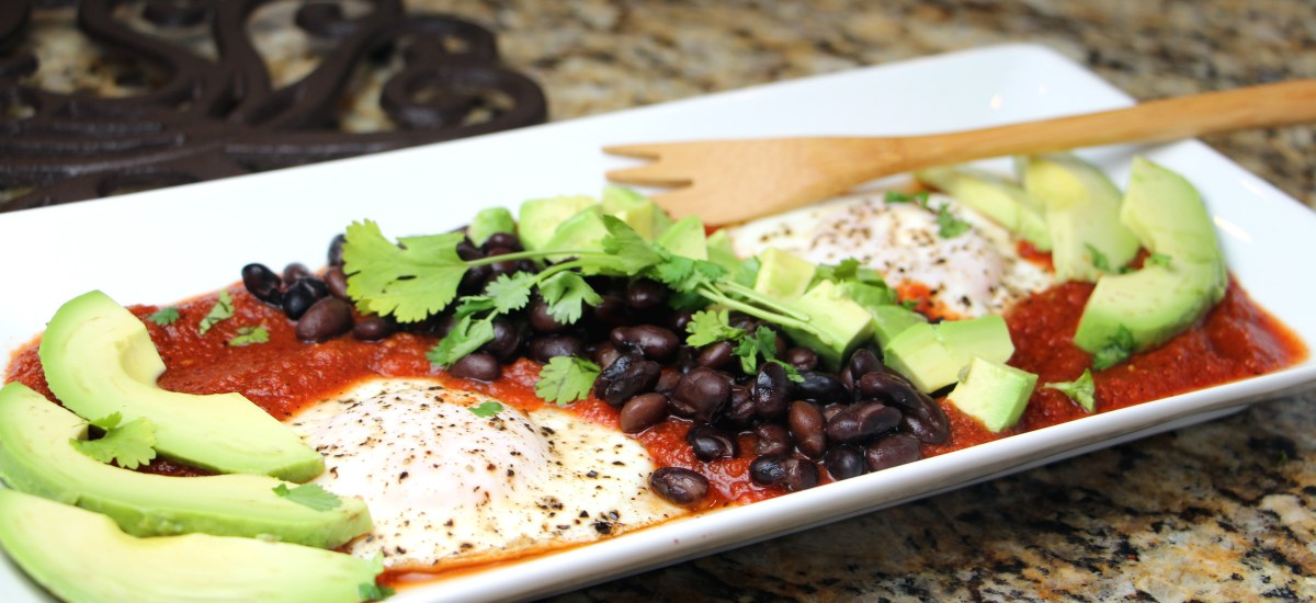 Black Bean Avocado Huevos Rancheros