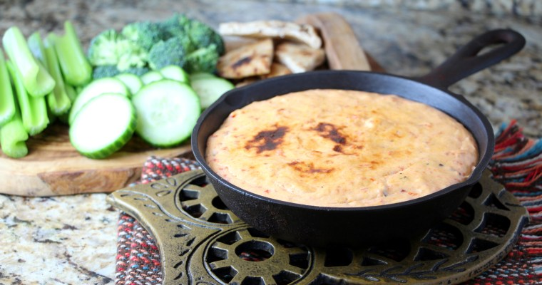 Roasted Red Pepper Three Cheese Dip
