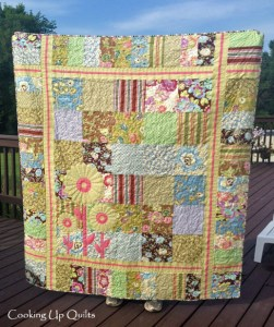 Floral Whimsy Patchwork Quilt