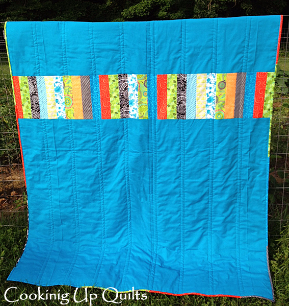 Rail Fence Quilt Pieced Backing