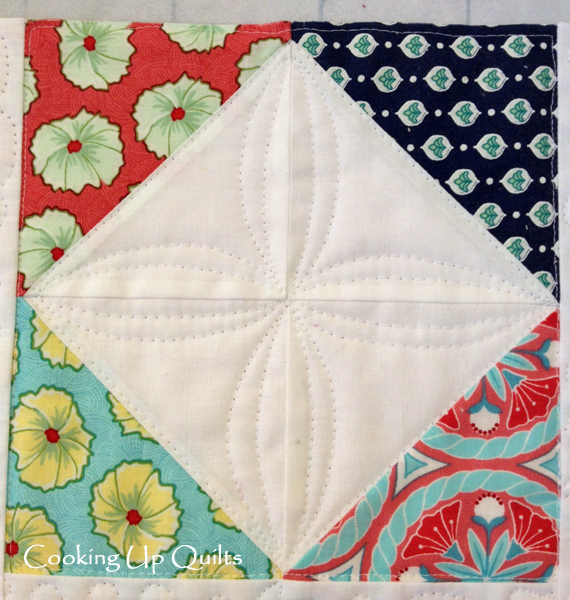 Block Detail Scrappy doll Quilt