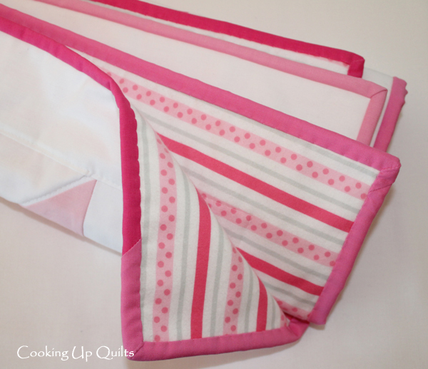 Scrappy binding, cotton flannel, robert kaufman