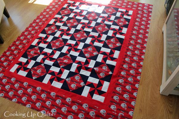 flimsy quilt top pinwheels