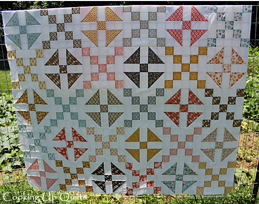 Front View Flimsy Quilt Top